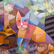 Wild Cat Blues Print by Lutz Baar