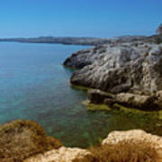Wild Coast Cyprus Art Print