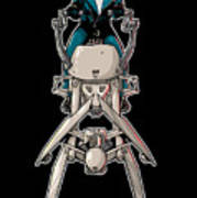 Wild Endor Aka Johnny Strabler On A Speeder Bike Art Print