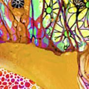Wild Flowers Abstract Art - Sharon Cummings Art Print