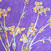 Wild Flowers On Lilac Art Print