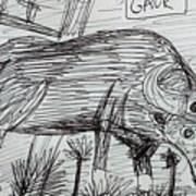 Wild Gaur Art Print