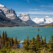 Wild Goose Island And The Peaks Of St Mary's Art Print