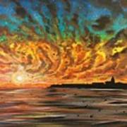 Wild Hearted Sun - Santa Cruz Art Print