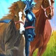 Wild Horses Running  Art Print