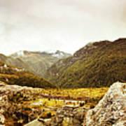 Wild Mountain Terrain Art Print
