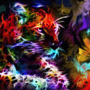 Wild Puma Colors Art Print