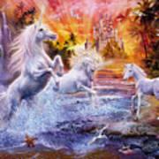 Wild Unicorns Art Print