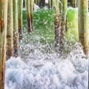 Wild Waves Under The Boardwalk Art Print
