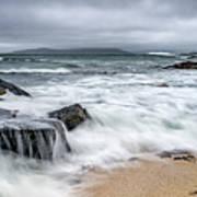 Wild Weather At Geodha Mhartainn On The Isle Of Harris Art Print