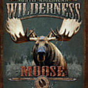 Wilderness Moose Art Print