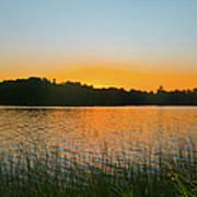 Wilderness Point Sunset Panorama Art Print