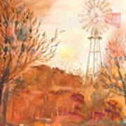 Wilderness Windmill Art Print