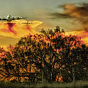 Wildfire C-130  Art Print