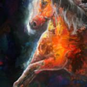 Wildfire Fire Horse Art Print
