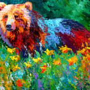 Wildflower Grizz II Art Print