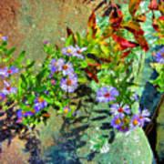 Wildflowers And Rocks Art Print