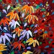 Wildflowers At Sunset Art Print