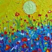 Wildflowers Meadow Sunrise Art Print
