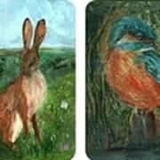 wildlife Quartet Art Print