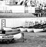Wildwood Rescue Boats Art Print