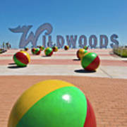 Wildwood's Sign, Wildwood, Nj Boardwalk . Copyright Aladdin Color Inc. Art Print