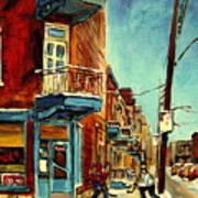 Wilensky's Corner Fairmount And Clark Art Print