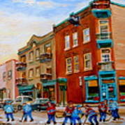 Wilensky's Street Hockey Game Art Print
