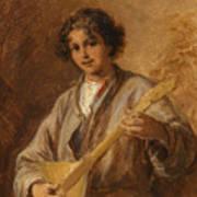 Wilhelm Amardus Beer, Portrait Of A Musician Boy Art Print