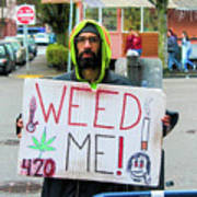 Will Work 4 Weed Art Print