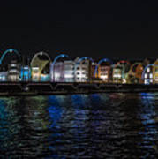 Willemstad Curacao At Night Art Print