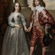 William II, Prince Of Orange, And His Bride, Mary Stuart Art Print