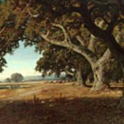 William Keith - California Ranch - 1908 Art Print