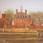 Williamsburg Governors Palace Art Print by Charles Roy Smith
