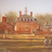 Williamsburg Governors Palace Art Print