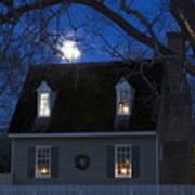 Williamsburg House In Moonlight Art Print