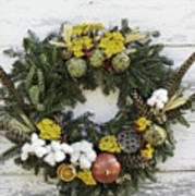 Williamsburg Wreath 09b Art Print