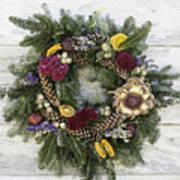 Williamsburg Wreath 10b Art Print