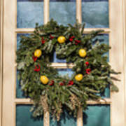 Williamsburg Wreath 37 Art Print