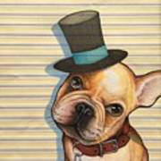 Willy In A Top Hat Art Print