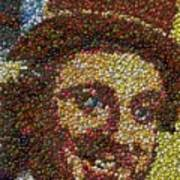 Willy Wonka Fizzy Lifting Bottle Cap Mosaic Art Print