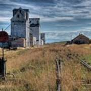 Wilsall Grain Elevators Art Print