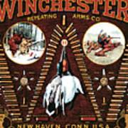Winchester W Cartridge Board Art Print