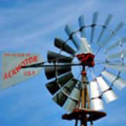 Wind Mill Pump In Usa 2 Art Print