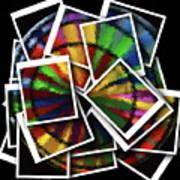 Wind Spinner Collage Art Print