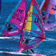 Wind Surfers In Nassau Art Print