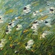 Wind Swept Daisies Art Print by Robert Laper