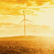 Windfarm Sunset Art Print