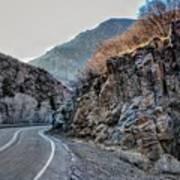 Winding Canyon Road Art Print