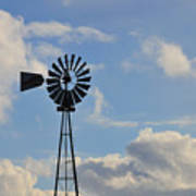 Windmill And Sky Art Print
